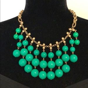 Stella and Dot Green Beaded Necklace